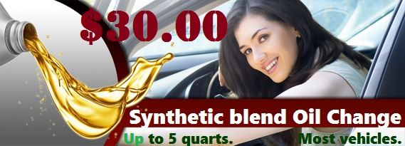 Synthetic blend oil change Rosedale, Ny
